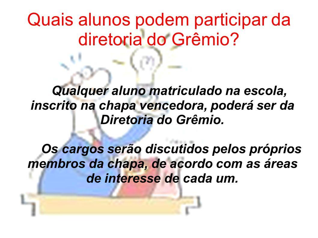 Quais alunos podem participar da diretoria do Grêmio