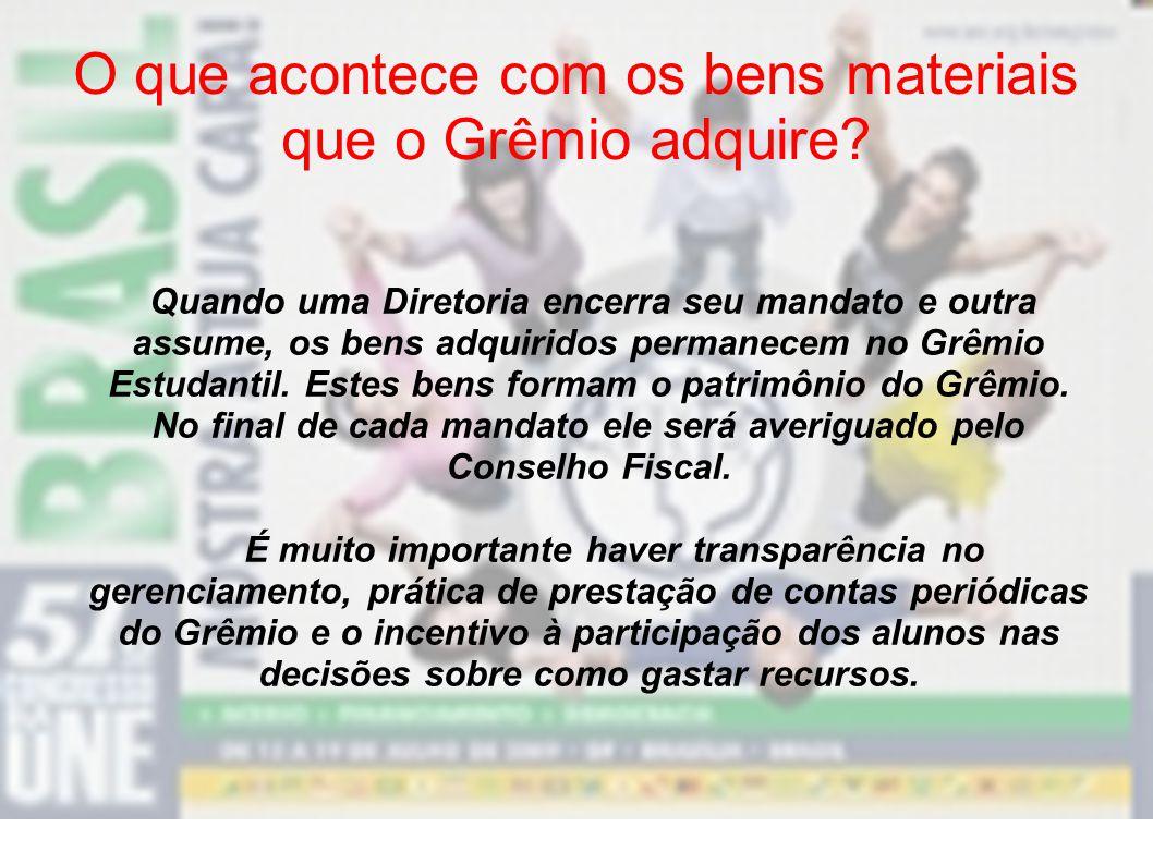 O que acontece com os bens materiais que o Grêmio adquire