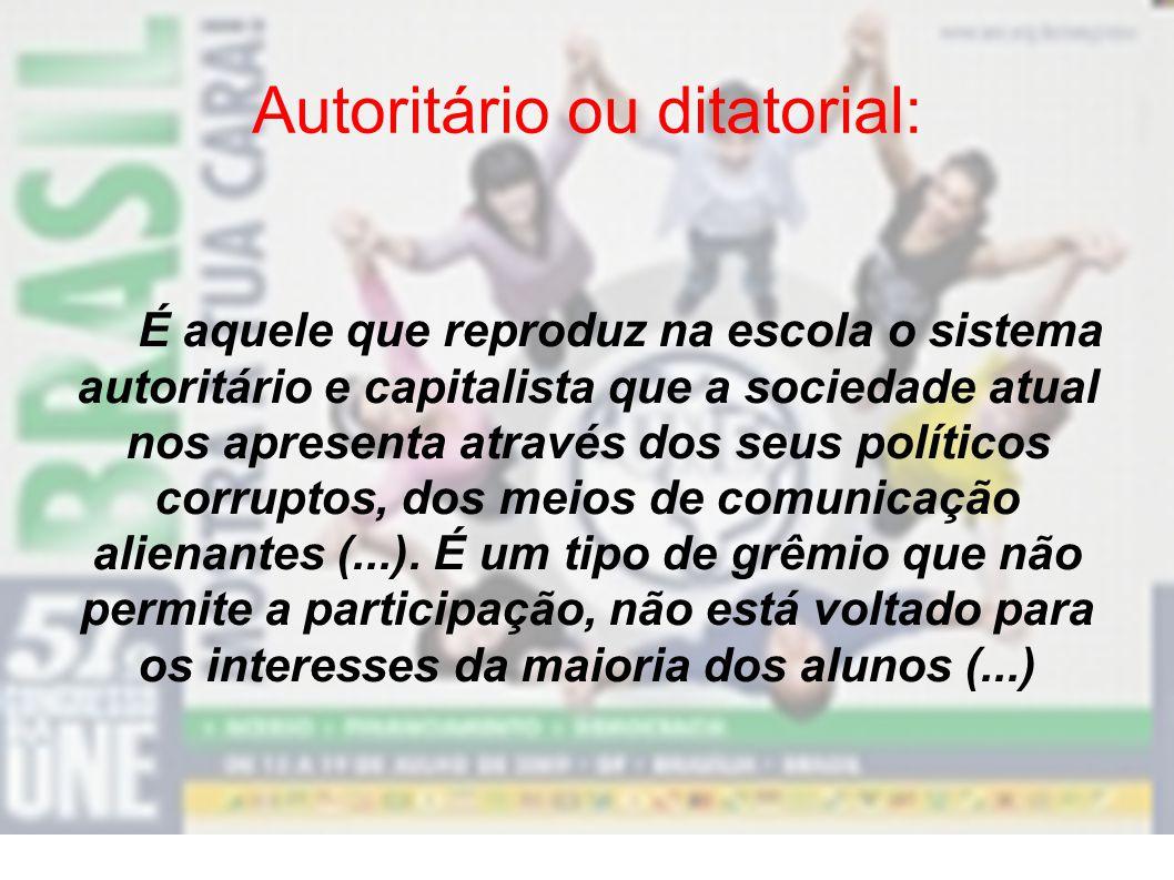 Autoritário ou ditatorial: