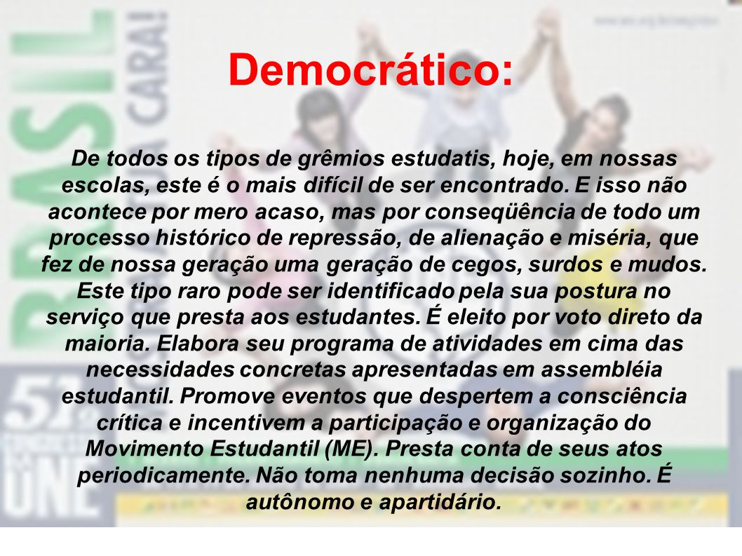 Democrático: