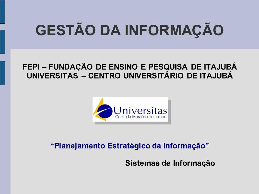 GESTÃO DA INFORMAÇÃO FEPI – FUNDAÇÃO DE ENSINO E PESQUISA DE ITAJUBÁ