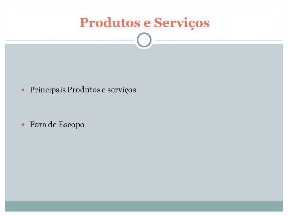 Produtos e Serviços Principais Produtos e serviços Fora de Escopo 8