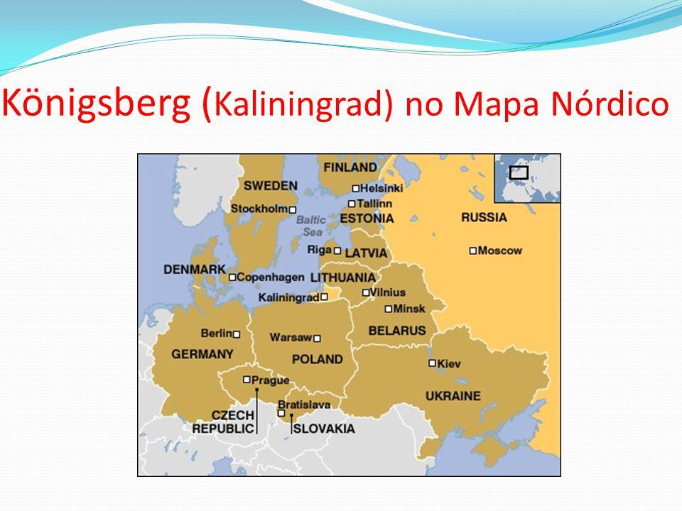 Königsberg (Kaliningrad) no Mapa Nórdico