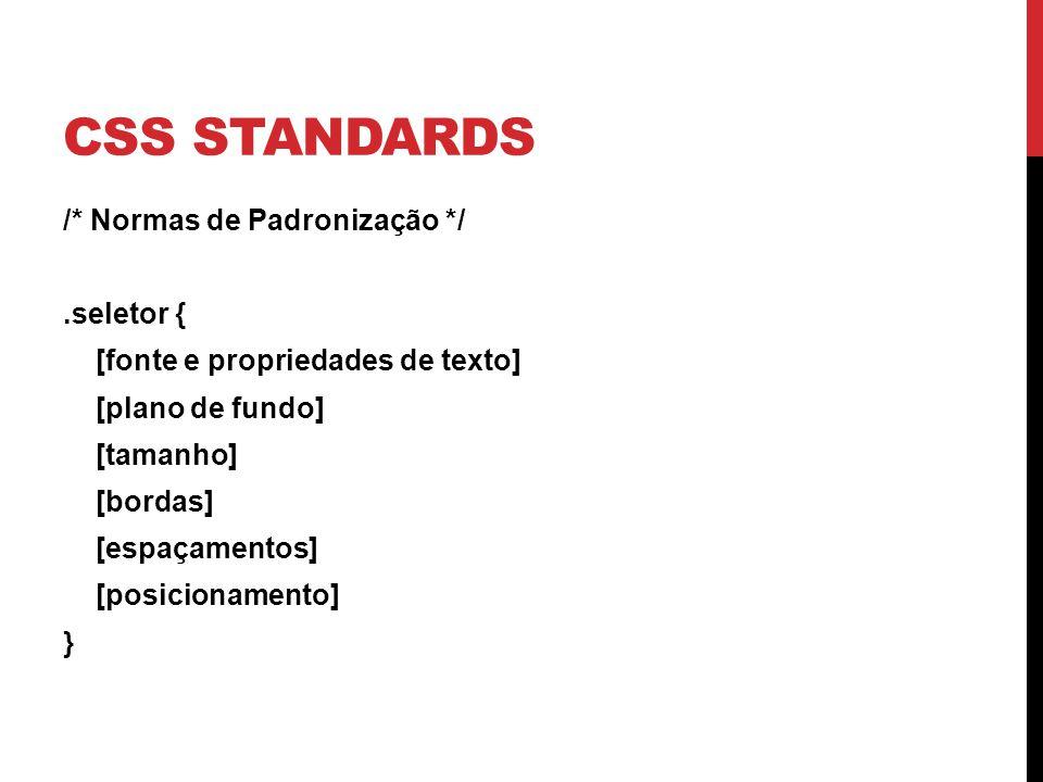 CSS Standards