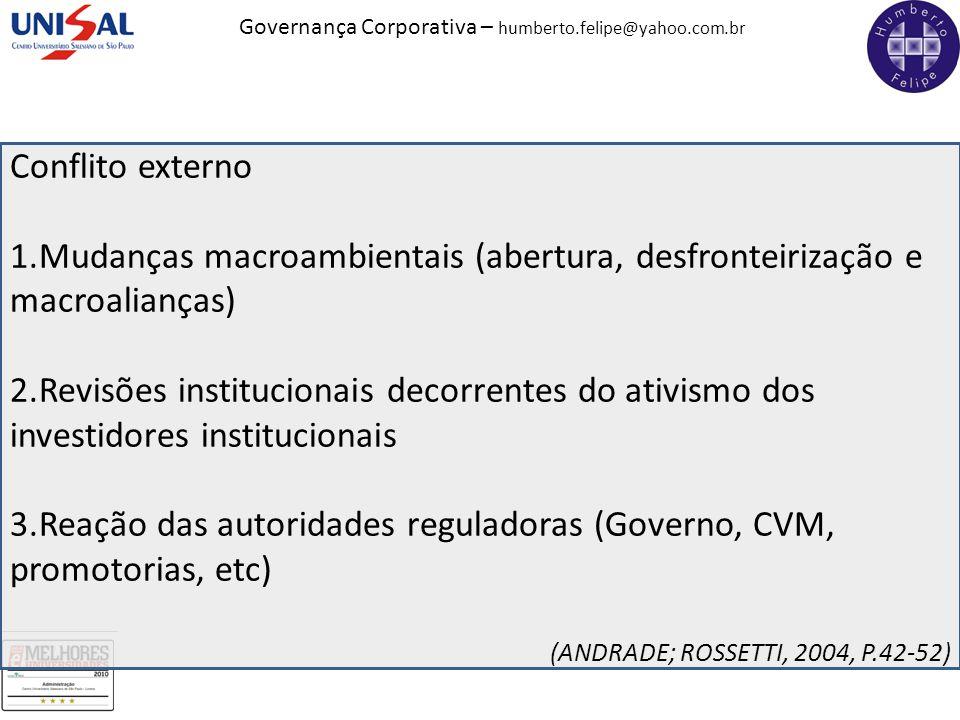 Mudanças macroambientais (abertura, desfronteirização e macroalianças)