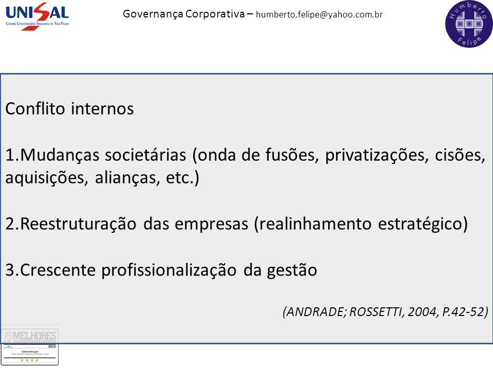 Reestruturação das empresas (realinhamento estratégico)
