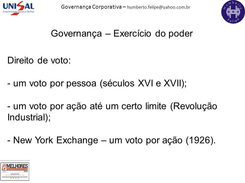 Governança – Exercício do poder
