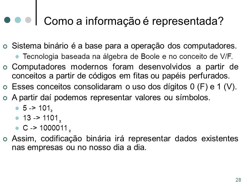 Como a informação é representada