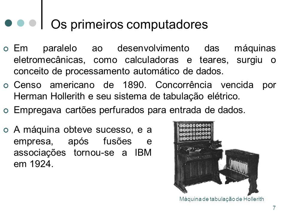 Os primeiros computadores