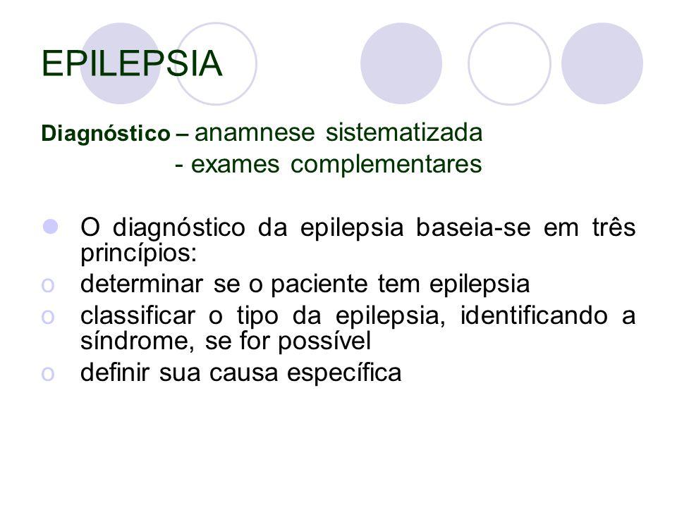 EPILEPSIA - exames complementares