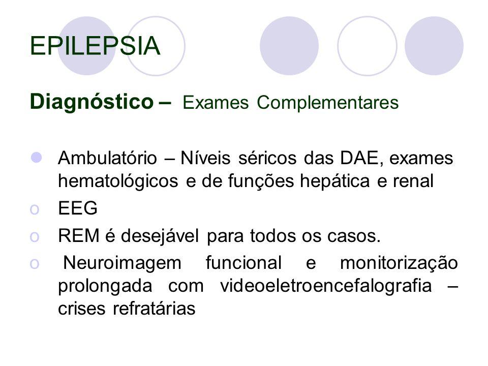 EPILEPSIA Diagnóstico – Exames Complementares