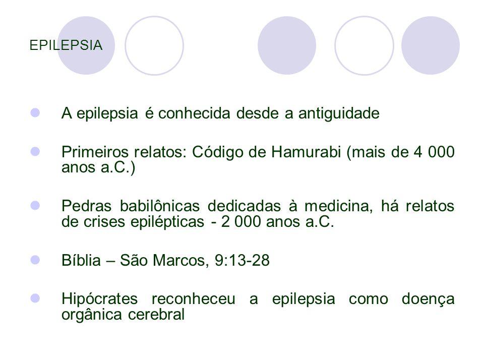 A epilepsia é conhecida desde a antiguidade