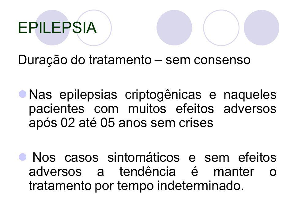 EPILEPSIA Duração do tratamento – sem consenso