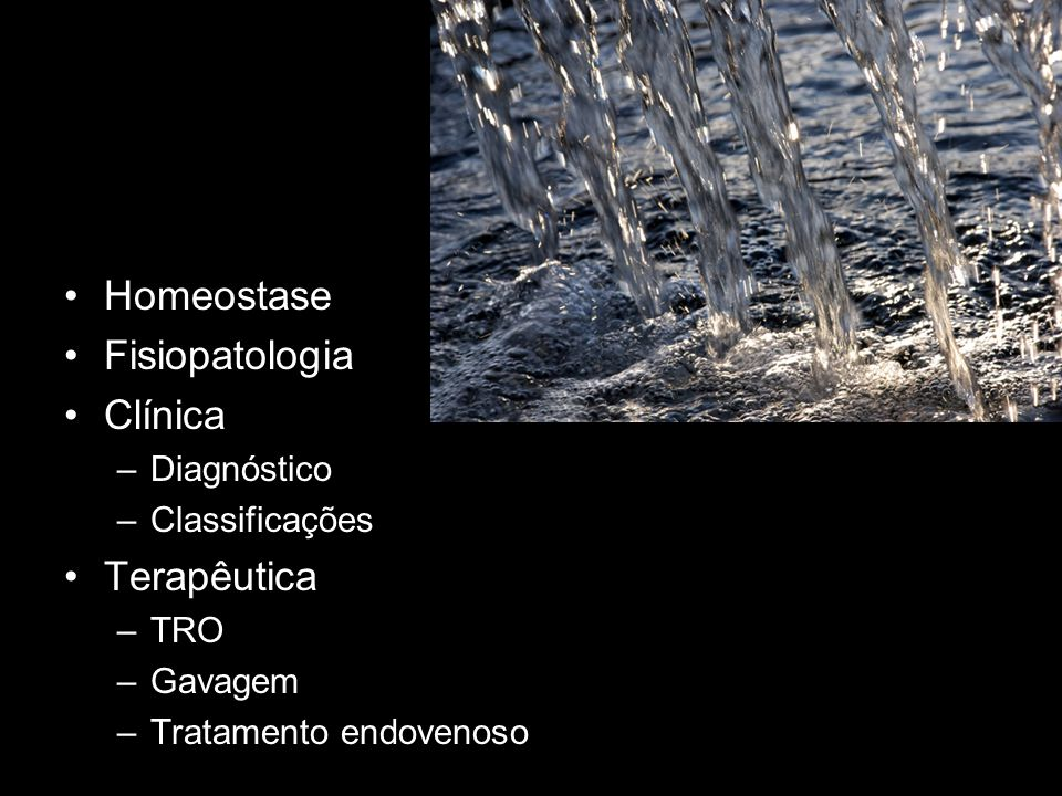 Homeostase Fisiopatologia Clínica Terapêutica Diagnóstico