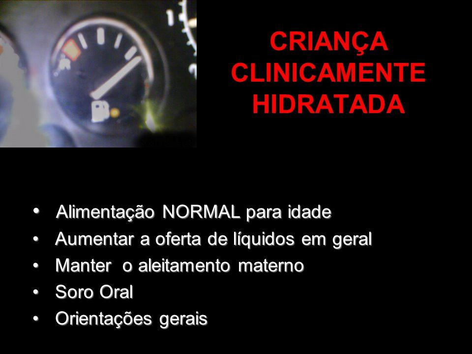 CRIANÇA CLINICAMENTE HIDRATADA