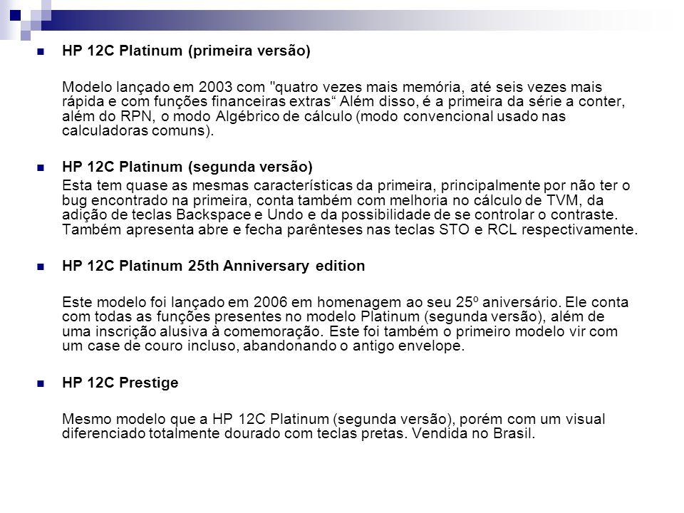 HP 12C Platinum (primeira versão)
