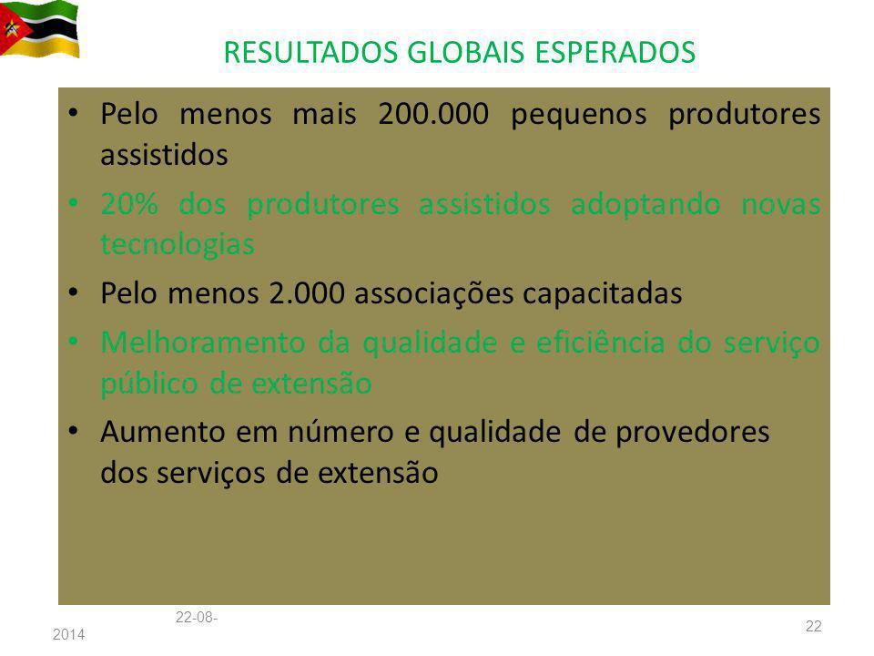 RESULTADOS GLOBAIS ESPERADOS