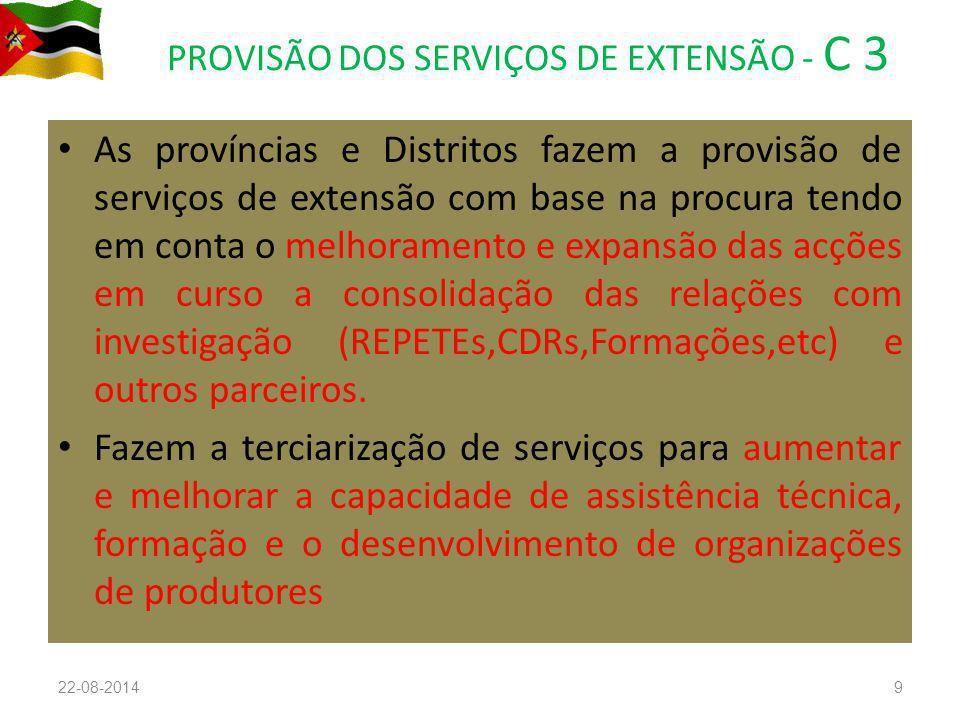 PROVISÃO DOS SERVIÇOS DE EXTENSÃO - C 3