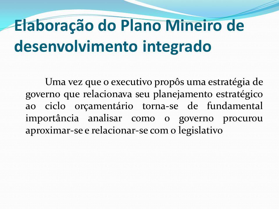 Elaboração do Plano Mineiro de desenvolvimento integrado