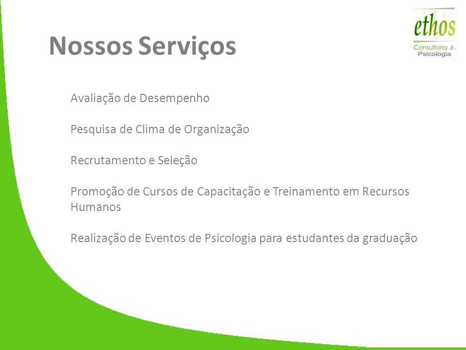 Nossos Serviços Avaliação de Desempenho