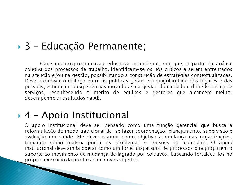 3 – Educação Permanente;