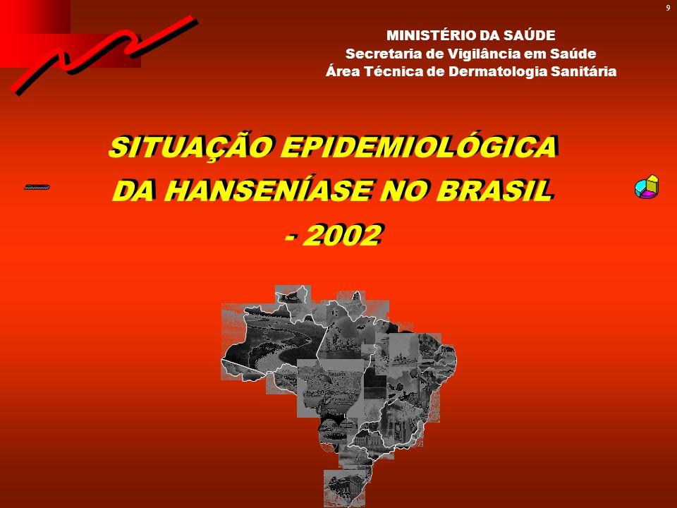 EVOLUÇÃO DA SITUAÇÃO DA DOENÇA NO PERÍODO 1986/2002