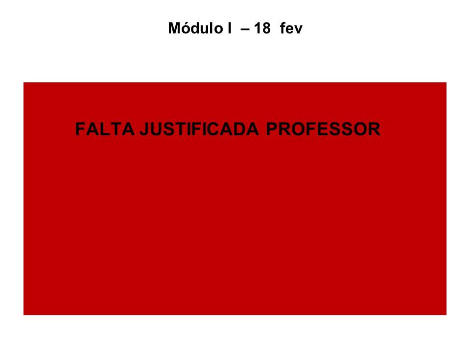 FALTA JUSTIFICADA PROFESSOR