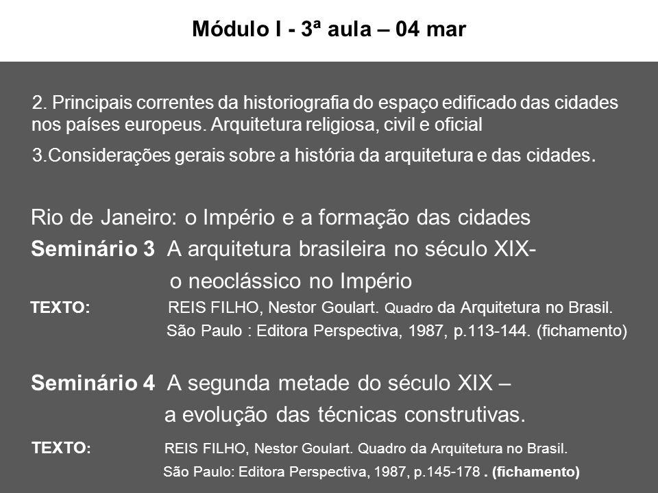 Módulo I - 3ª aula – 04 mar