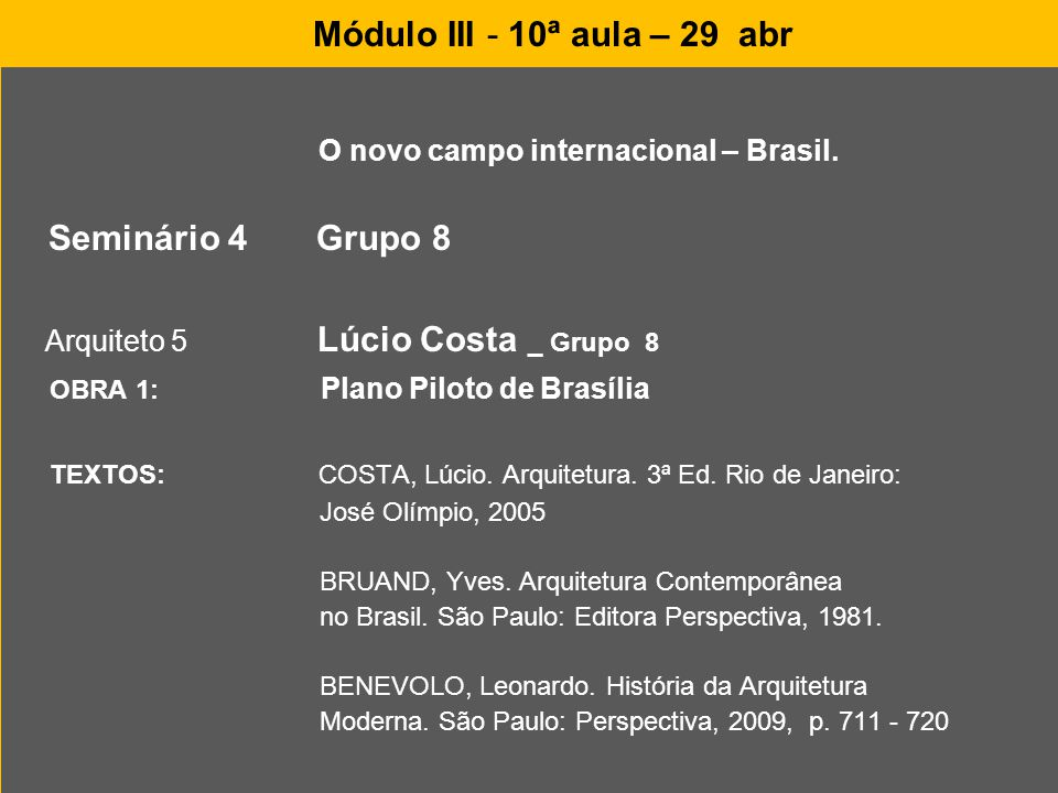 O novo campo internacional – Brasil.