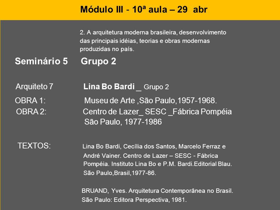 OBRA 1: Museu de Arte ,São Paulo,1957-1968.