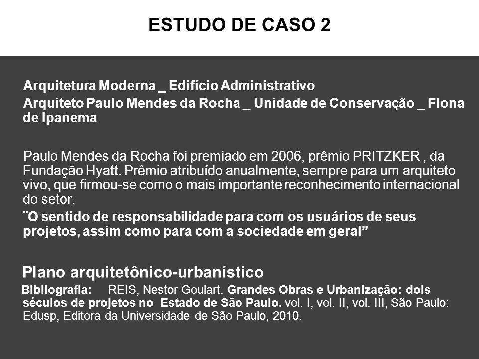 ESTUDO DE CASO 2 Plano arquitetônico-urbanístico
