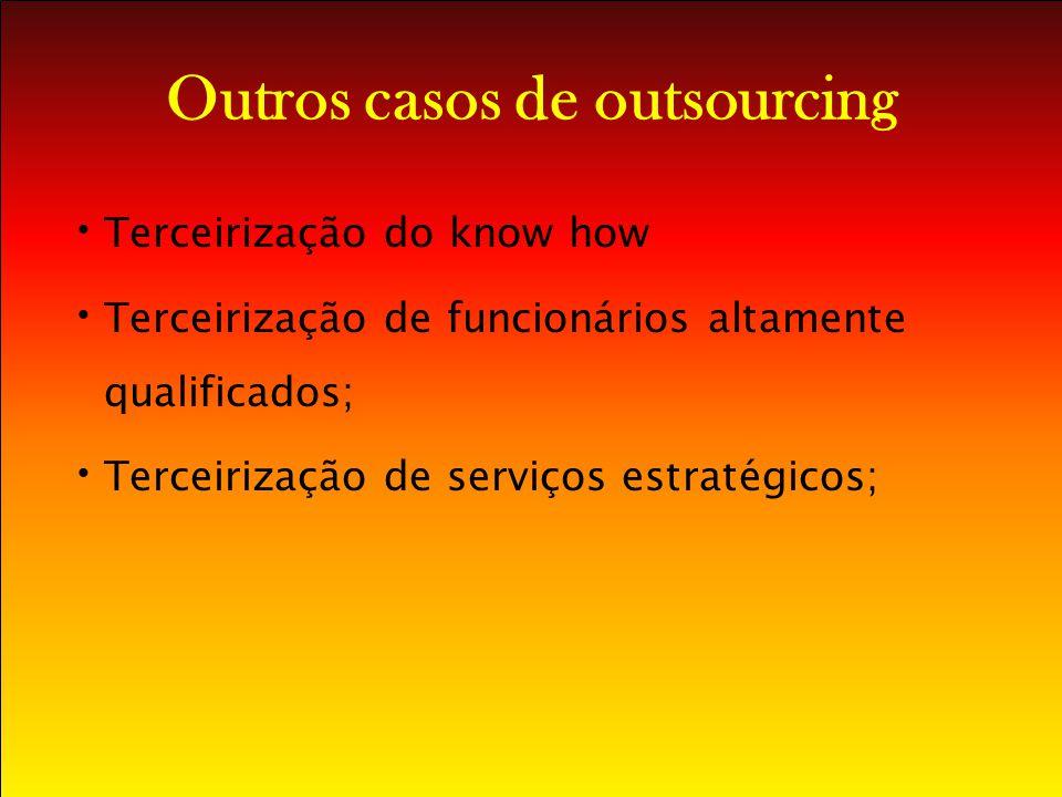 Outros casos de outsourcing