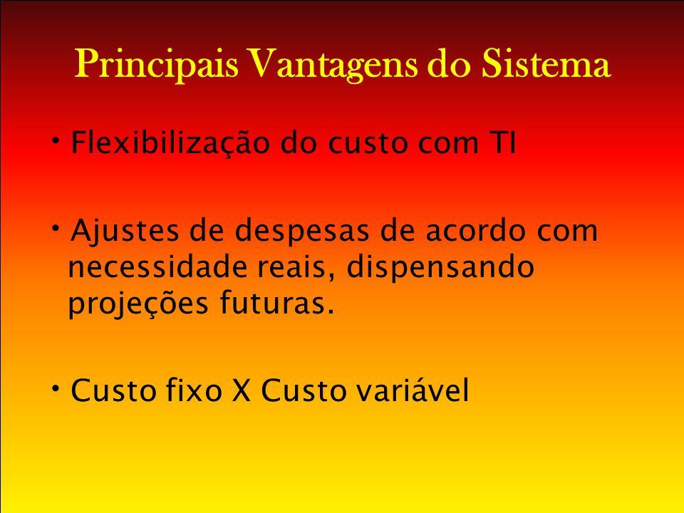 Principais Vantagens do Sistema