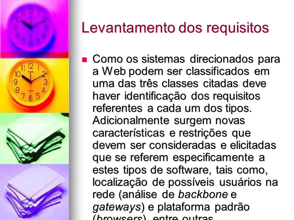 Levantamento dos requisitos