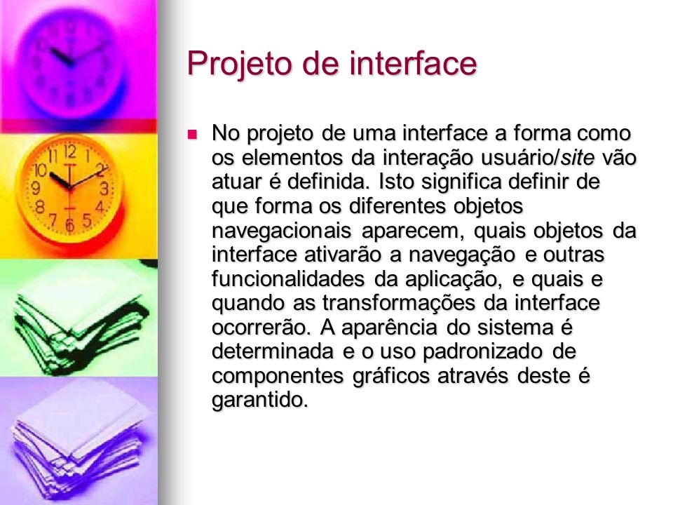 Projeto de interface