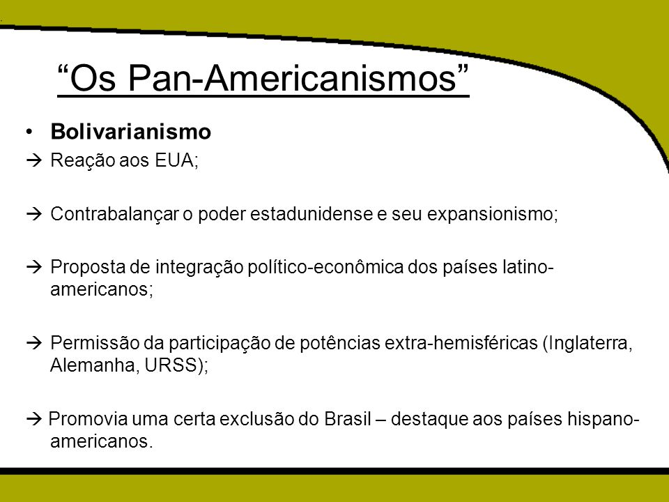 Os Pan-Americanismos
