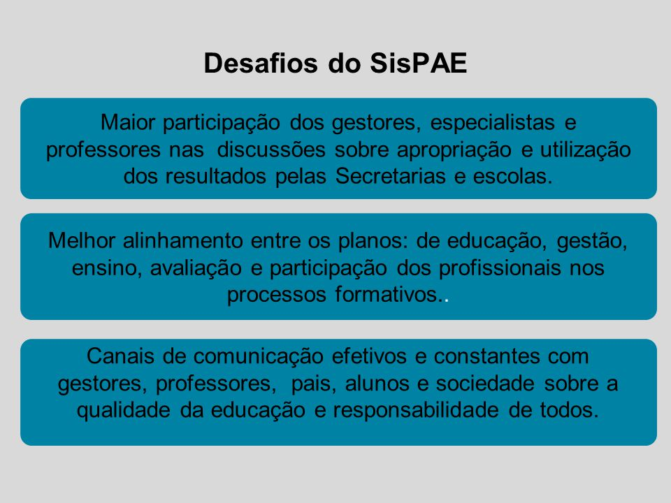 Desafios do SisPAE