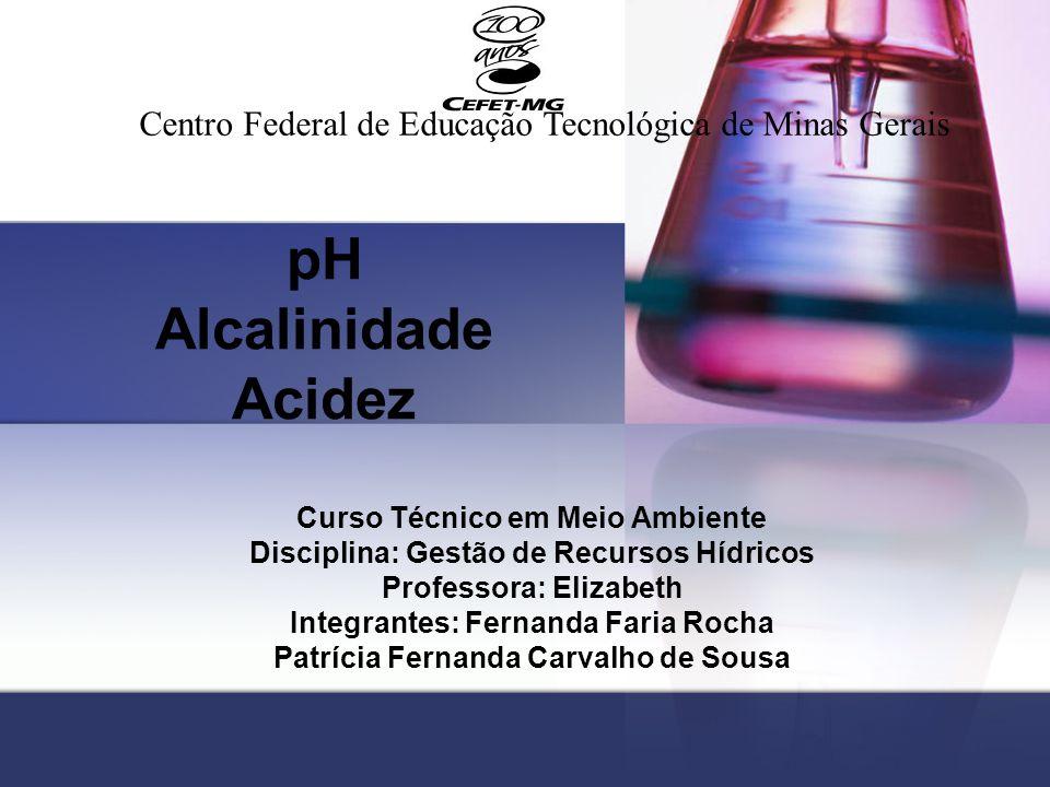 pH Alcalinidade Acidez