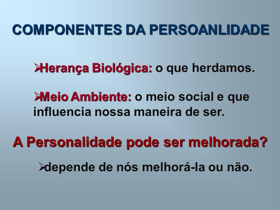 COMPONENTES DA PERSOANLIDADE