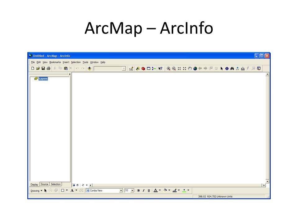 ArcMap – ArcInfo