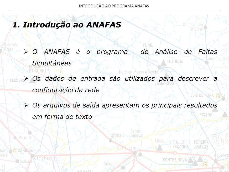 INTRODUÇÃO AO PROGRAMA ANAFAS