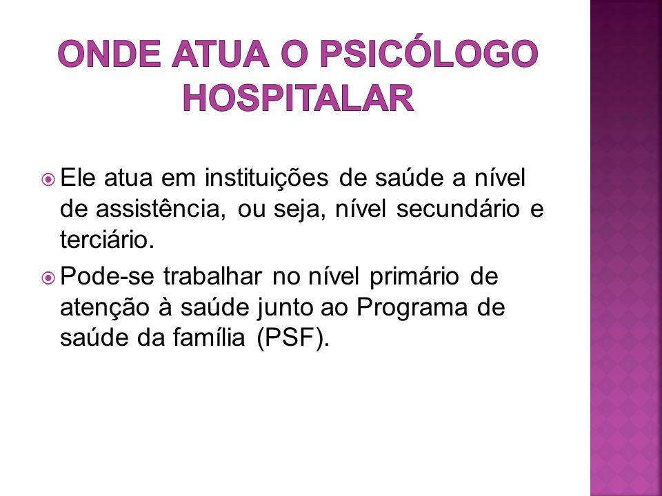 Onde atua o psicólogo hospitalar