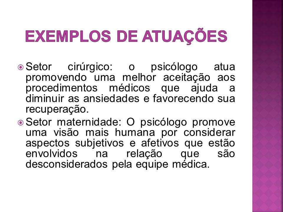EXEMPLOS DE ATUAÇÕES