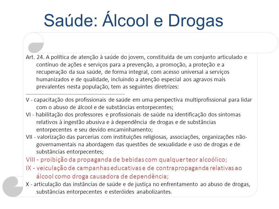 Saúde: Álcool e Drogas
