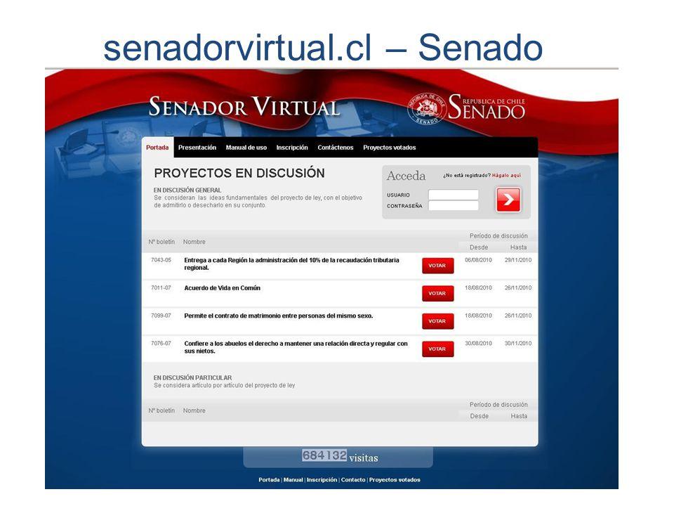 senadorvirtual.cl – Senado chileno