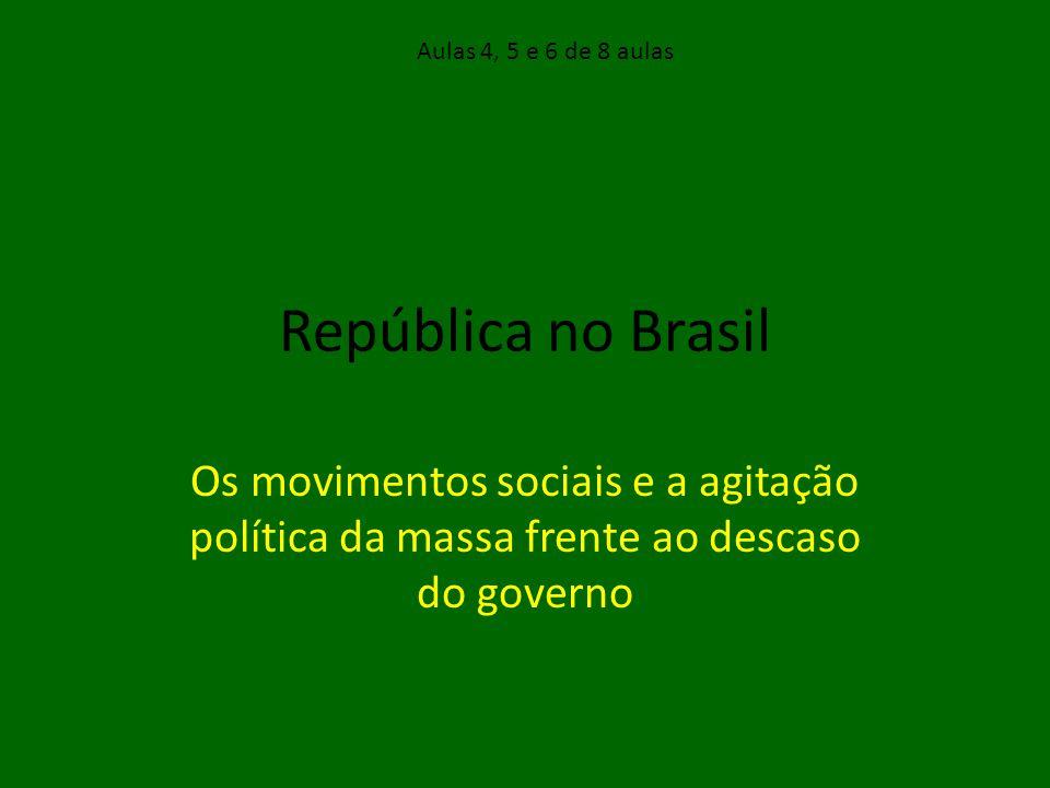 Aulas 4, 5 e 6 de 8 aulas República no Brasil.