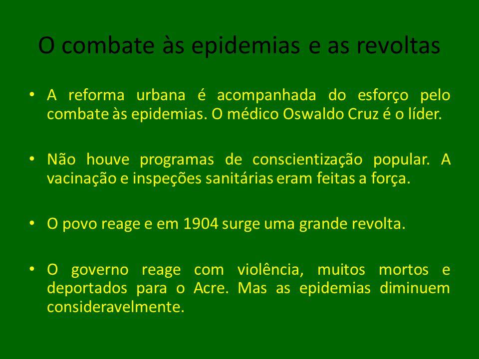 O combate às epidemias e as revoltas