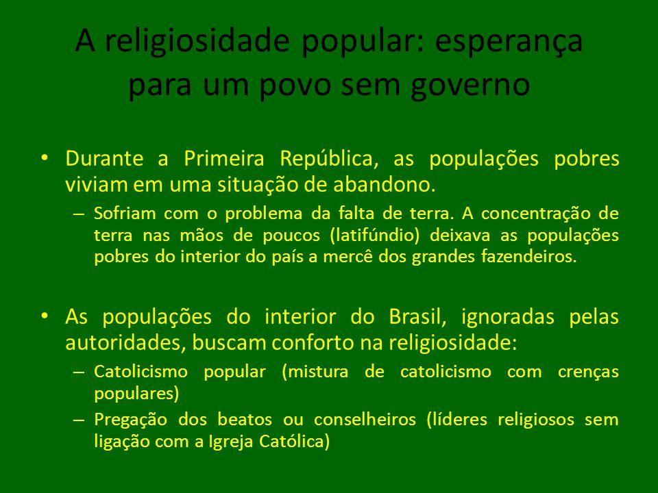 A religiosidade popular: esperança para um povo sem governo