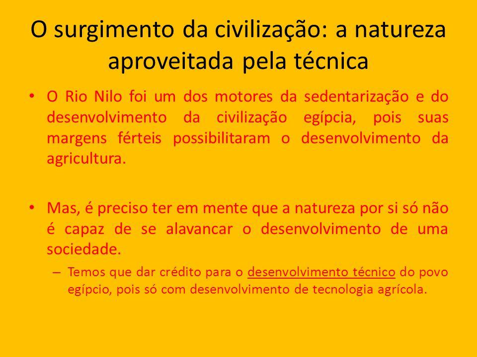 O surgimento da civilização: a natureza aproveitada pela técnica