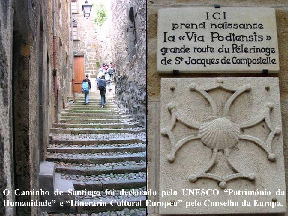 O Caminho de Santiago foi declarado pela UNESCO Património da Humanidade e Itinerário Cultural Europeu pelo Conselho da Europa.